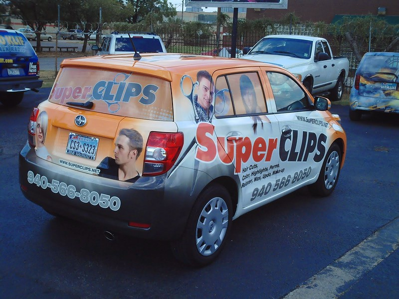 """Vehicle Wrap for SuperClips in Dallas, TX  <a href=""""http://www.skinzwraps.com"""">http://www.skinzwraps.com</a>"""