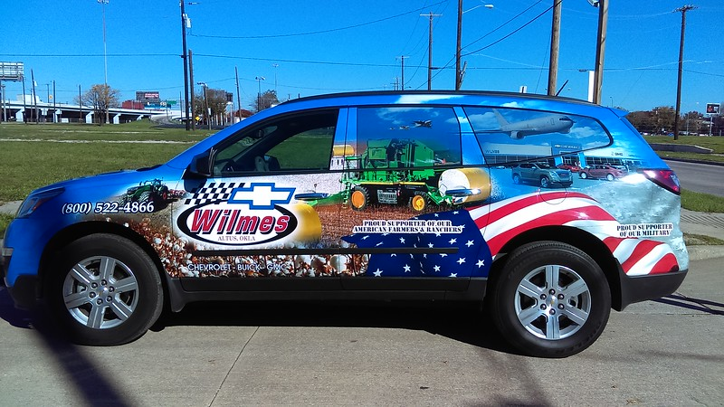 Wilmes Chevrolet, Custom Design Skinzwrap on this brand new 2015 Chevy Traverse