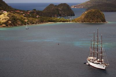Tall Ship Sea Cloud, Terre-de-Haut, Îles des Saintes, Guadeloupe