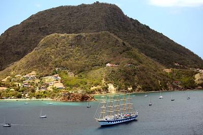 Royal Clipper, Terre-de-Haut, Îles des Saintes, Guadeloupe