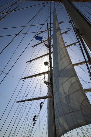 Climbing the Ratlines, S/V Star Clipper, The Aegean Sea