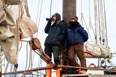 018 Alex & Frank Hartley on the Noorderlicht © David Bickerstaff