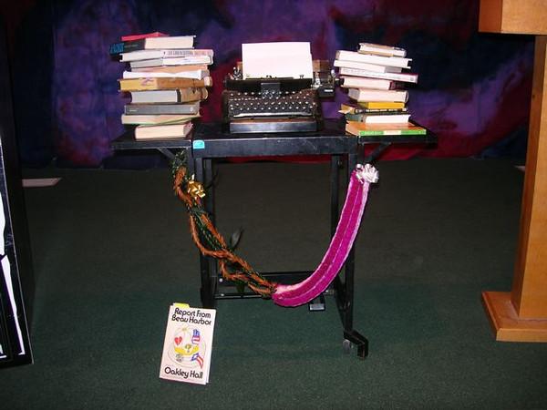 Oakley Hall Books & Typewriter<br /> Photo credit: Steve Susoyev 2008
