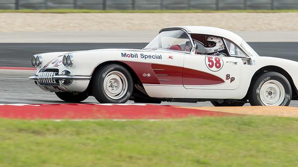 Louis Gladfelter in a 1958 Corvette