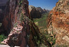 Angel's Landing and down valley View.