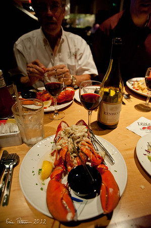 I had crab stuffed lobster for dinner.