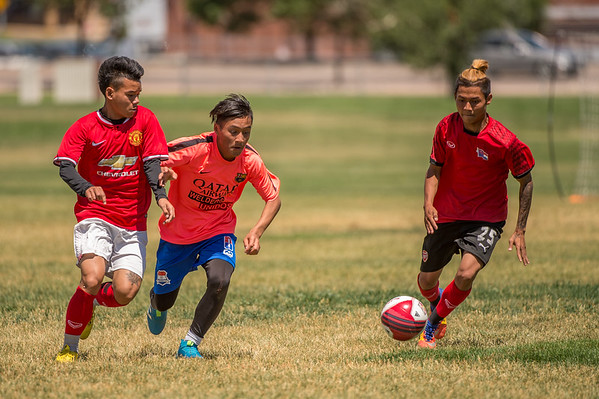 Miscellaneous photos from the 2nd Annual World Refugee Day International Soccer Tournament sponsored by Soccer Without Borders and the Niyakko Rush Soccer Club at Del Mar Park in Aurora, Colorado.  Photo Credit: Al Milligan - KLC fotos
