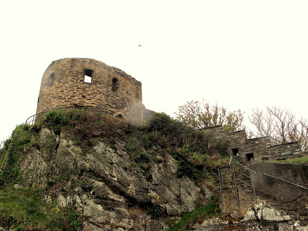 The remains of St Catherine's Castle