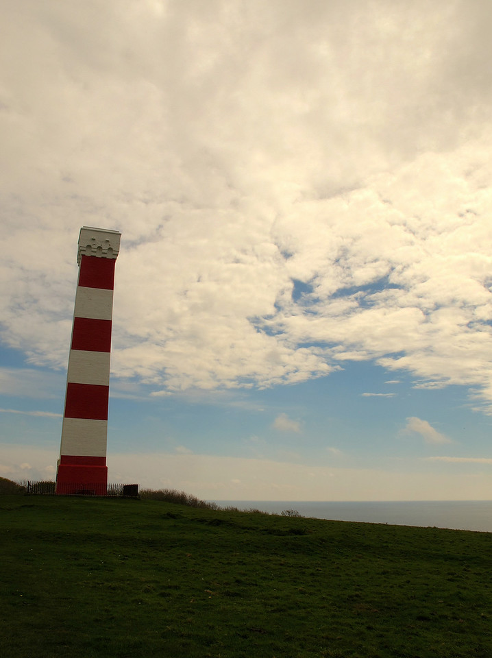Gribbin Daymark, a tower built to assist the navigation of passing ships.