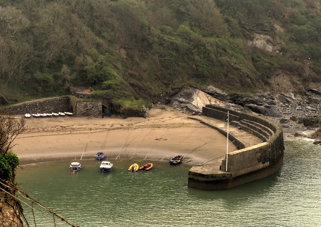 Polkerris Harbour, hidden away just a couple of miles from industrial St Austell.