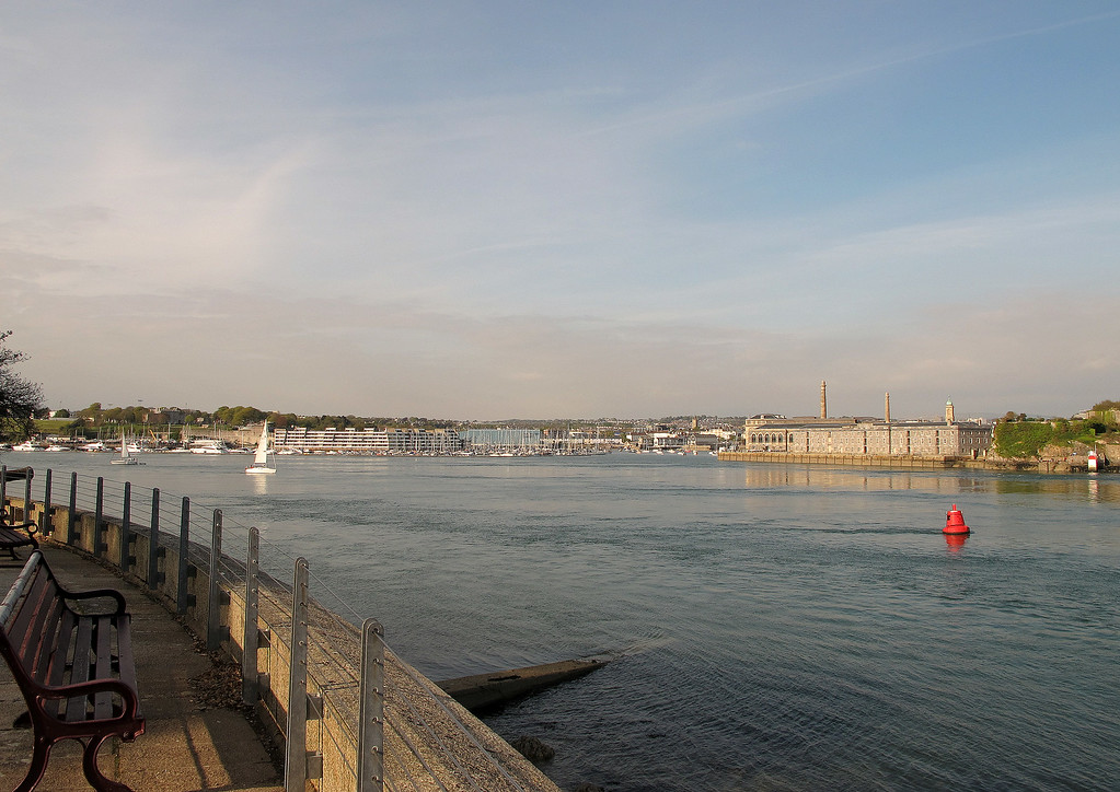 The view from Cornwall to Devon!   Across the Fal river stands the port city of Plymouth.