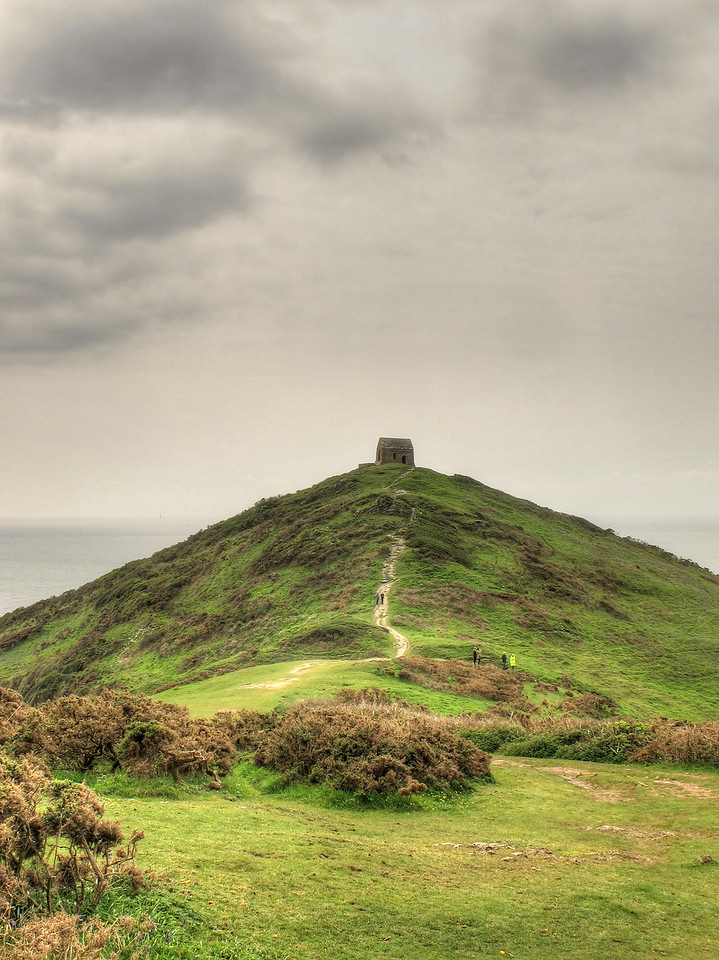 St Michaels Chapel at Rame Head.   This area also has bronze age fortifications.