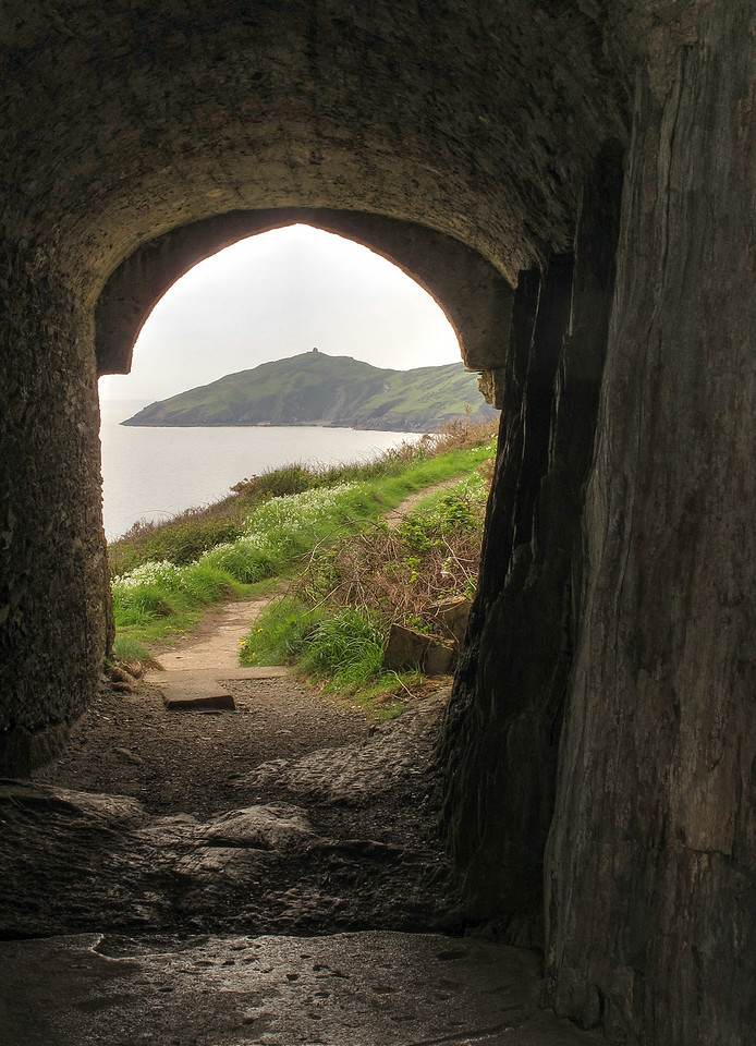 Rame Head from Queen Adelaide's Chapel, Penlee point.