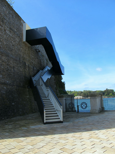 """The new staircase will, for the first time, enable Coast Path walkers to get through the defensive wall at Devil's Point into the Yard, creating a connection all the way around the Stonehouse peninsula."""