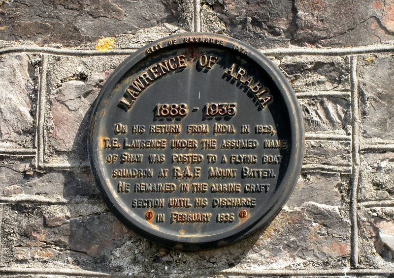 A plaque at Turnchapel, Plymouth.