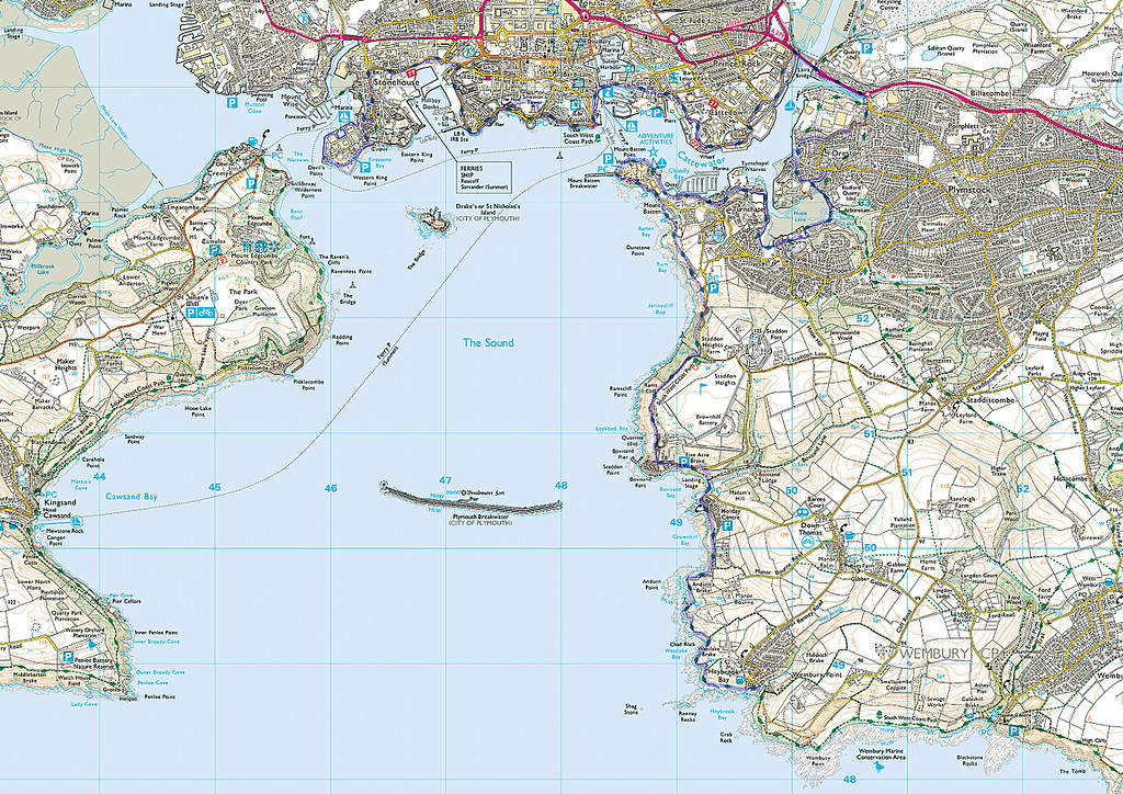 The route travelled today, ferry from Cremyl to Stonehouse and on through the docks of Plymouth ending at Heybrook Bay.
