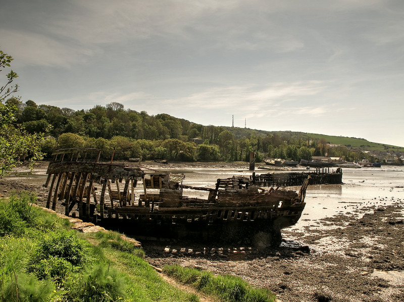 Wrecks in Hooe Lake Plymouth.