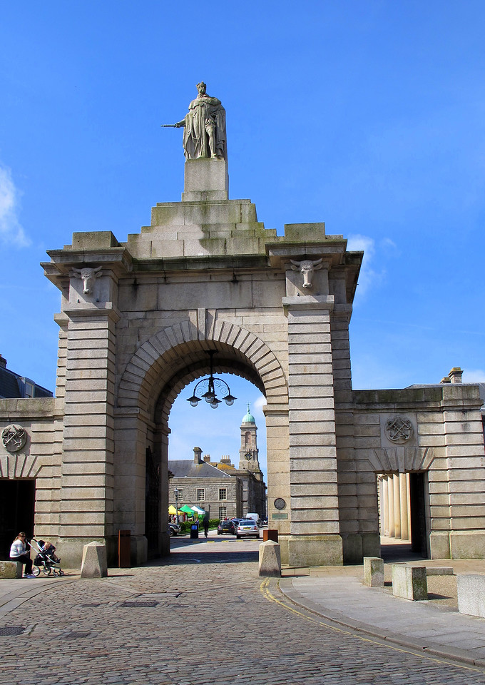 The main entrance to the Royal William Yard, Plymouth.