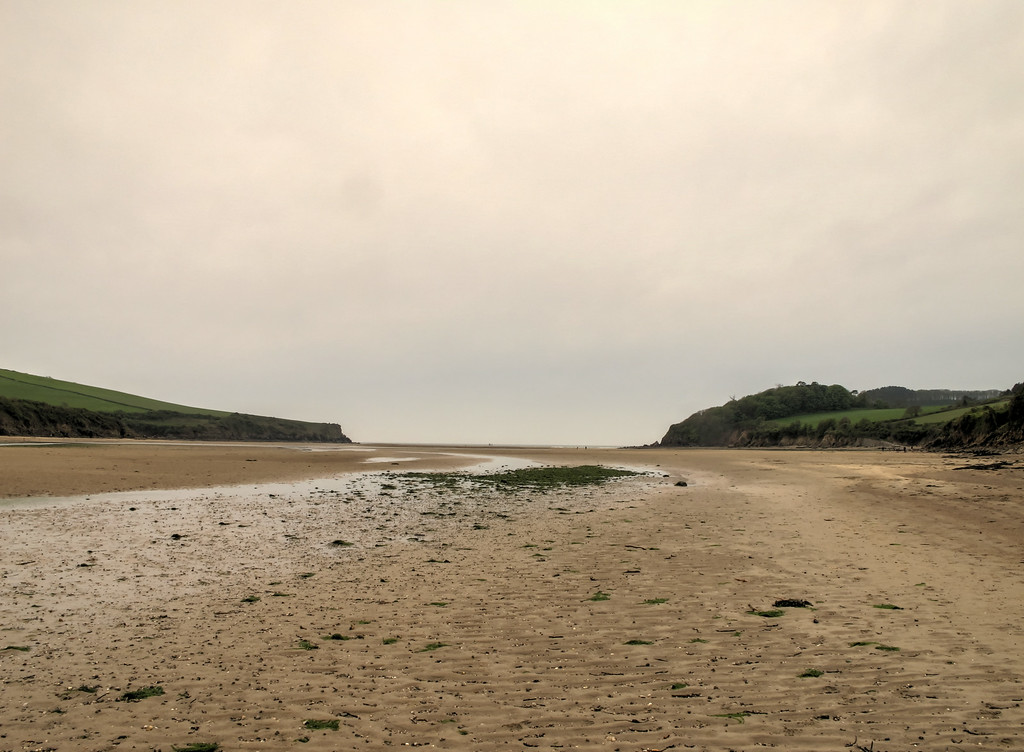 The mouth of the river Erme at low tide.