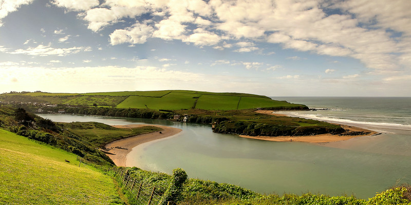 The estuary of the river Avon  adjacent to Burgh Island.