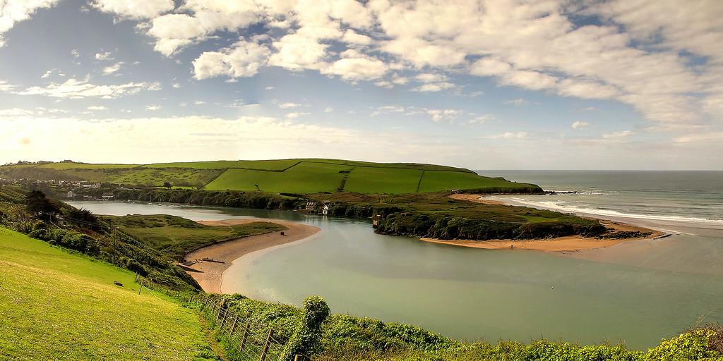 The estuary of the river Avon  adjacent to Burgh Island.