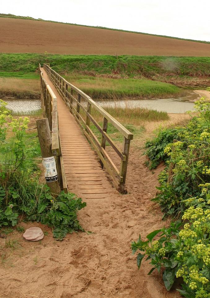 The longest footbridge on the South West Coast Path at Thurlestone Sand
