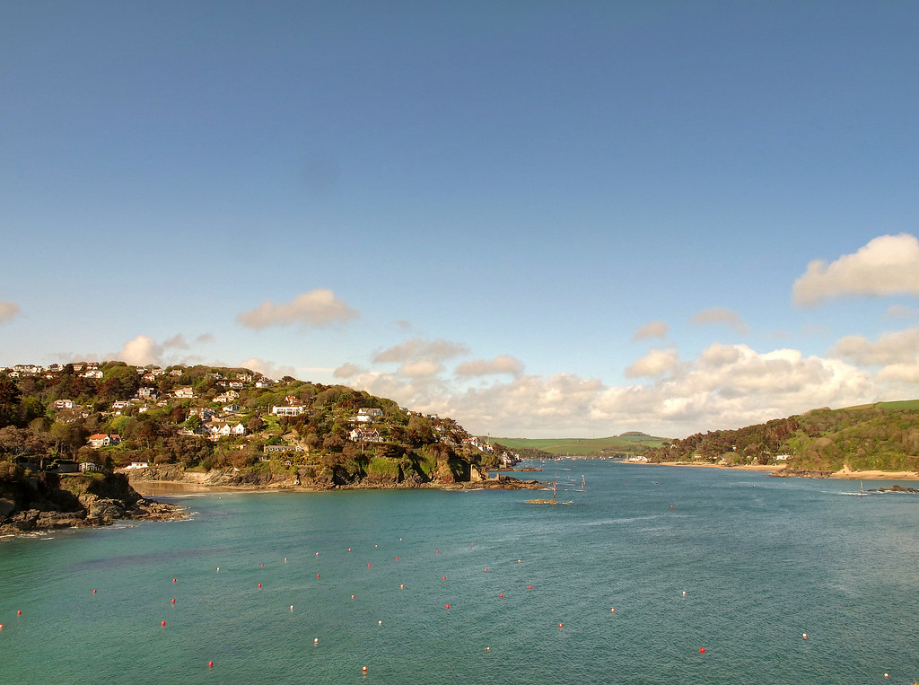 Rounding Sharp Tor, suddenly Salcombe comes into view.