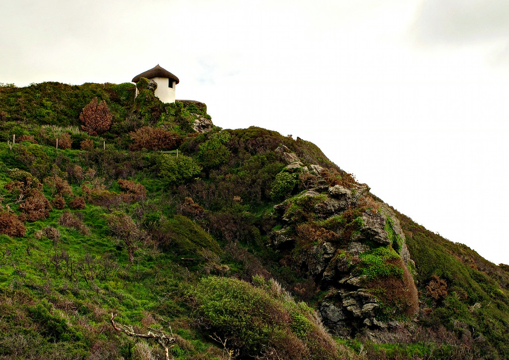 An old coastguard lookout at East Prawle.