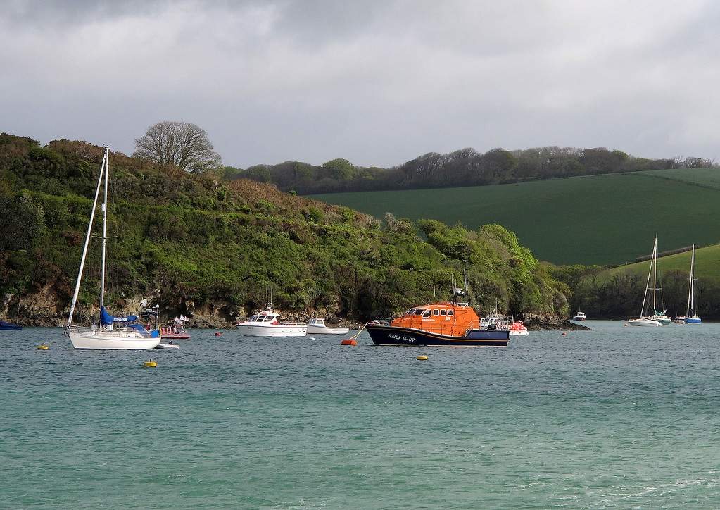 The Salcombe lifeboat, a Tamar class vesel.
