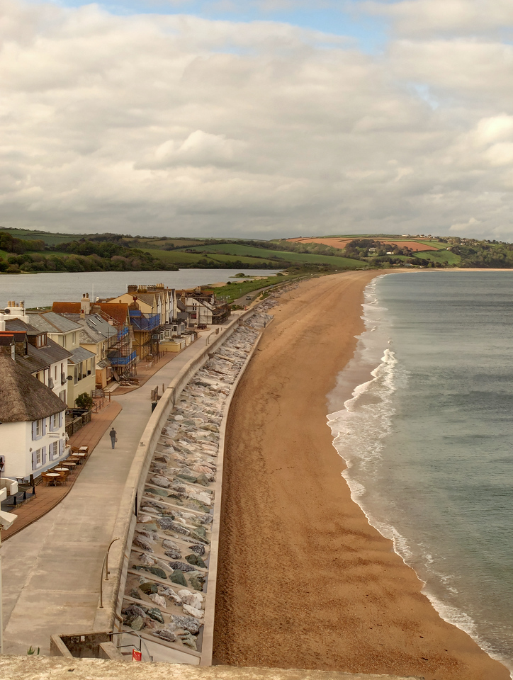 Slapton and its sand bar.
