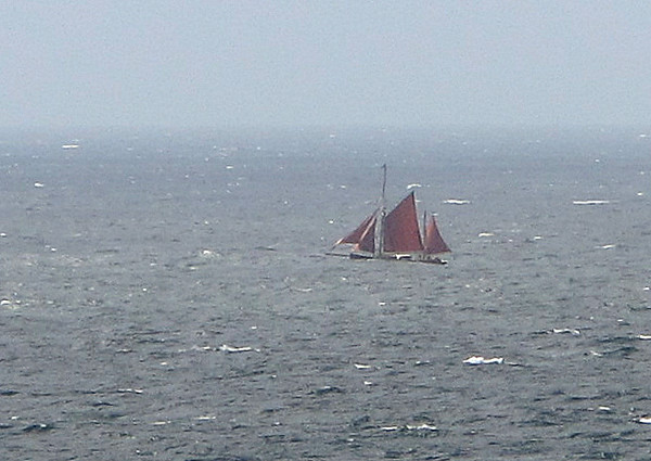 This Gaf Ketch looks like the old boat spotted in Salcombe.