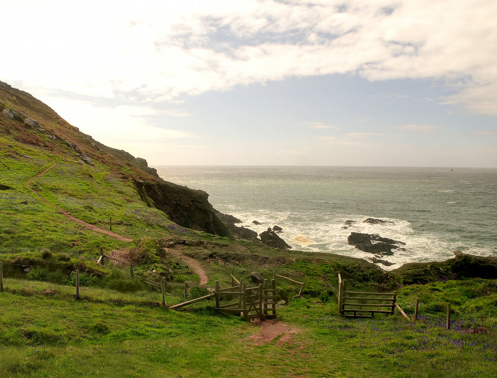 A typical coast path scene - every down slope is followed by a corresponding climb!