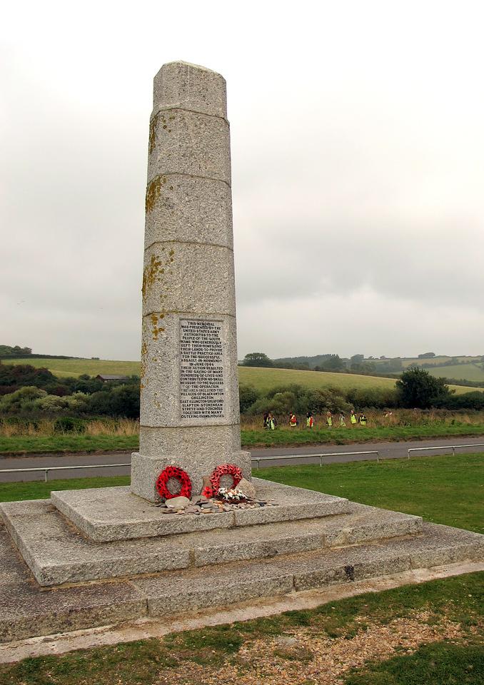 The war memorial at Slapton Sands
