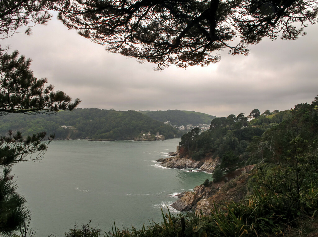 On the way out of Kingswear and a last look back at Dartmouth.