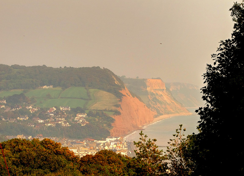 Here is Sidmouth.   At this point it is natural to look beyond to see what sort of country lies ahead for tomorrow!