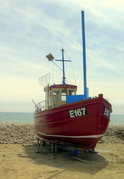 A boat at Lyme Regis