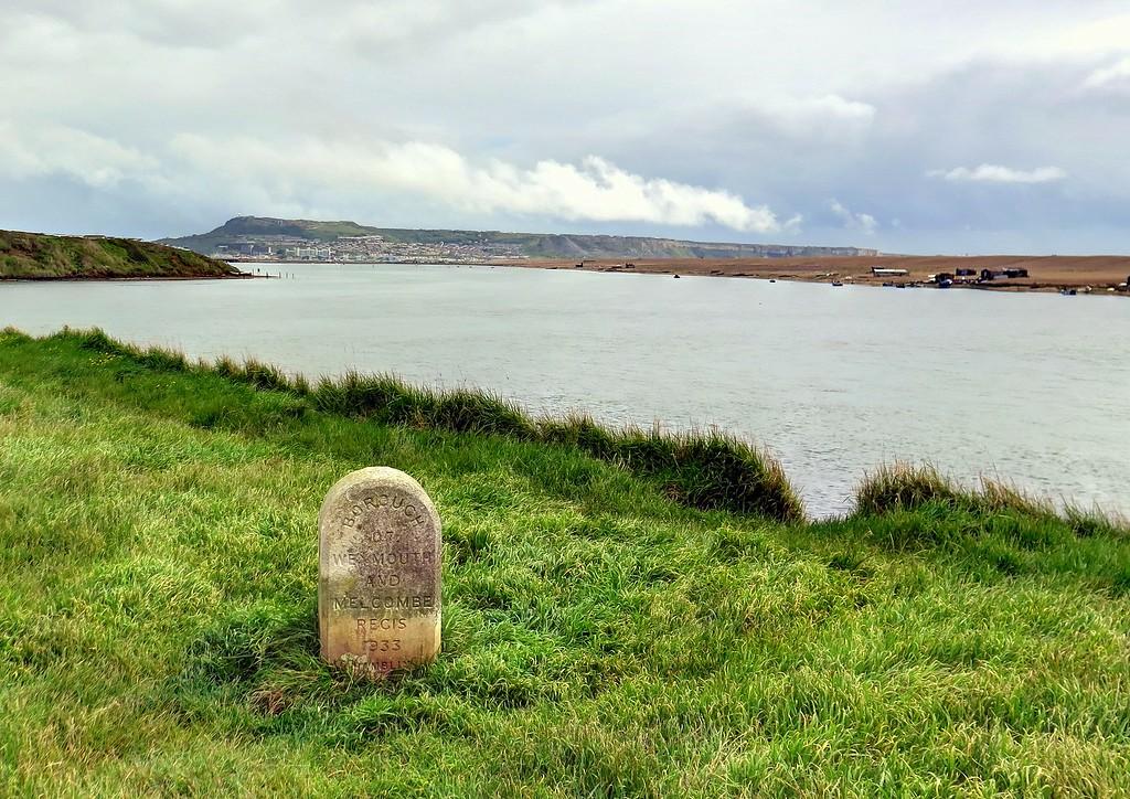 A boundary post