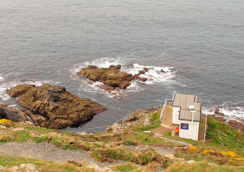 Cape Cornwall coastguard lookout, the most Westerly on the British mainland.