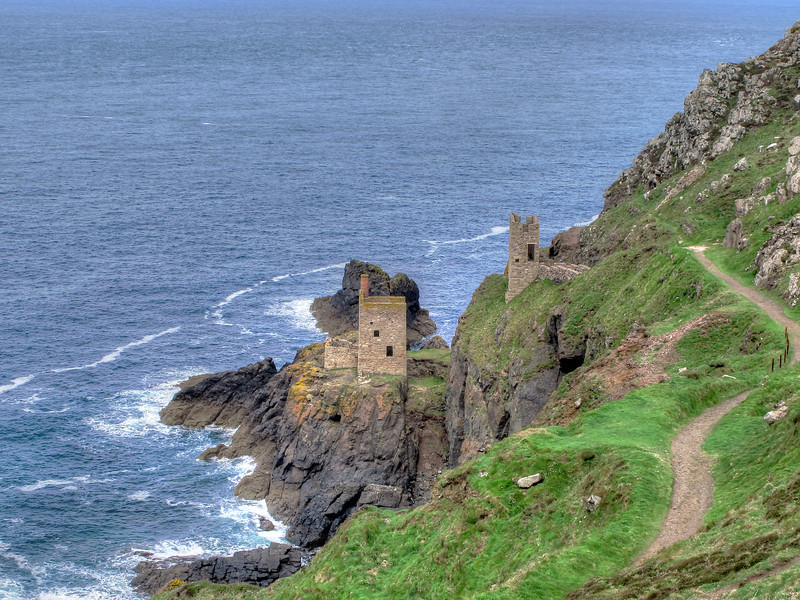 More mining buildings - this time engine houses at The Crowns, Botallack head.