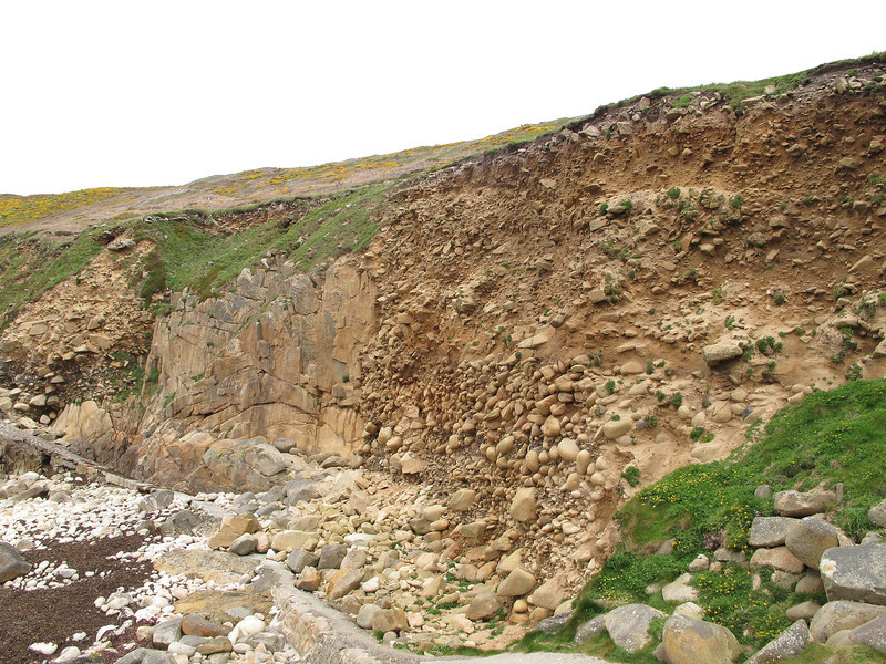 The three different phases of rock formation can be seen here.