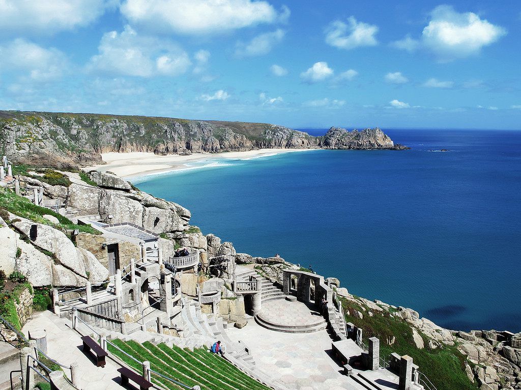 "The Minack Theatre at Porthcurno <a href=""http://en.wikipedia.org/wiki/Minack_Theatre"">http://en.wikipedia.org/wiki/Minack_Theatre</a>, a stunning location started by the lady owner in her back garden with the help of her gardener during the 1930s."
