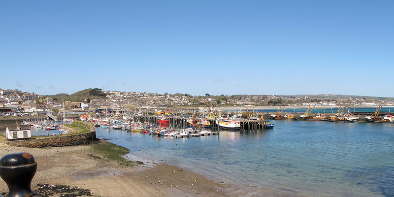 On a few miles to Newlyn and the busy fishing harbour.