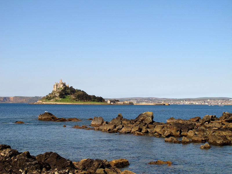 .... and another of St Michaels Mount, this time from Basore Point.