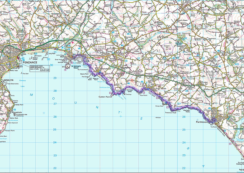 The route for today's walk as recorded on my 'phone.