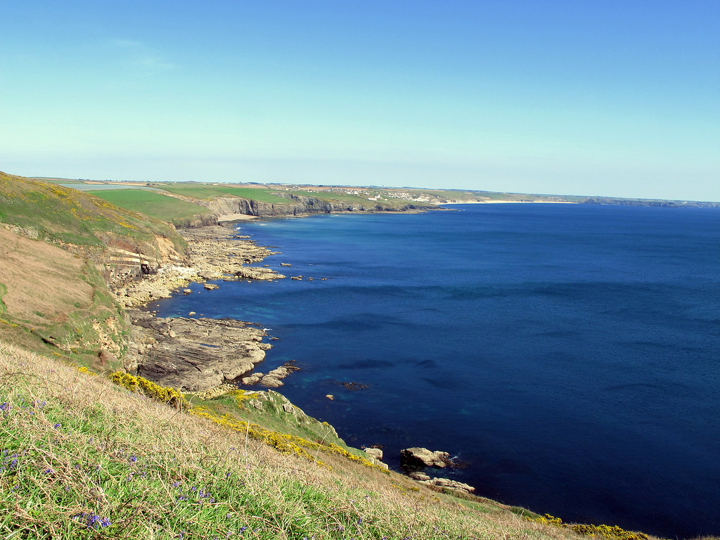 the view Southeastwards from Trewavas head.