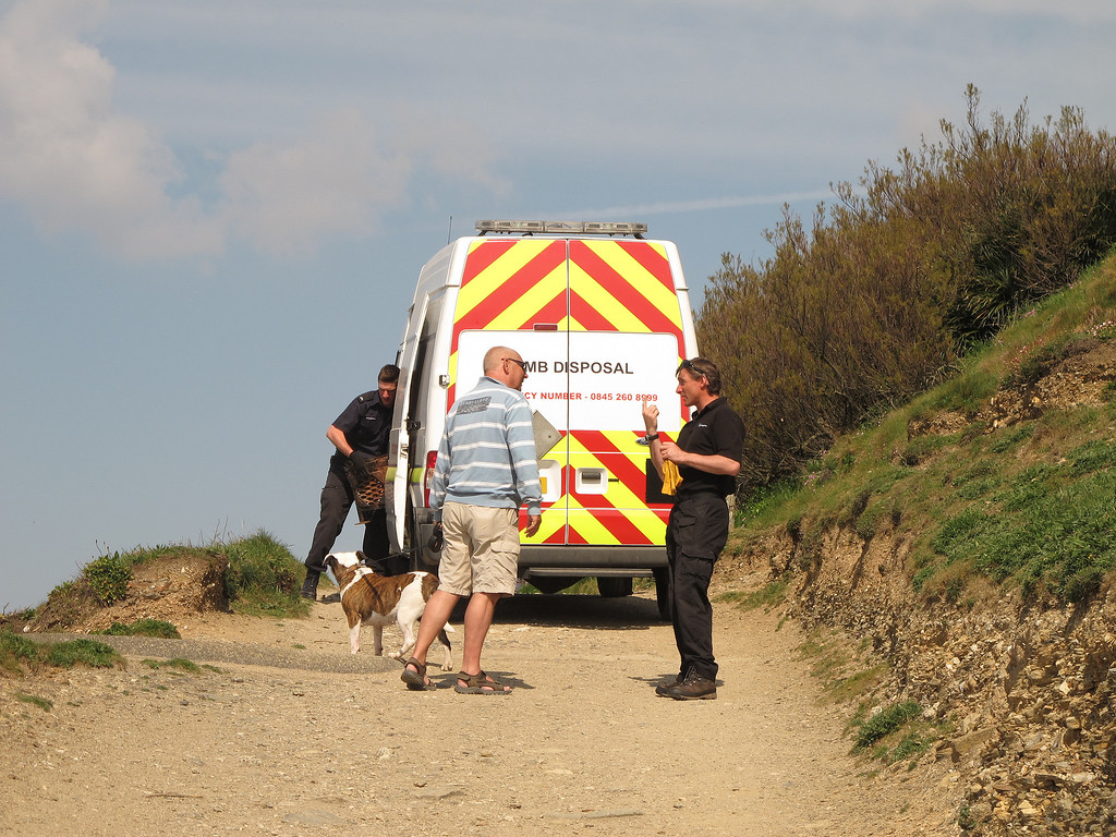 A little startling at first but it was just a training exercise.   A Bomb Disposal team at Bar Lodge near Porthleven