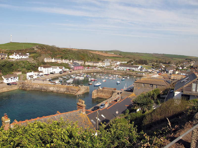 Porthleven Harbour from the road outside the B&B.