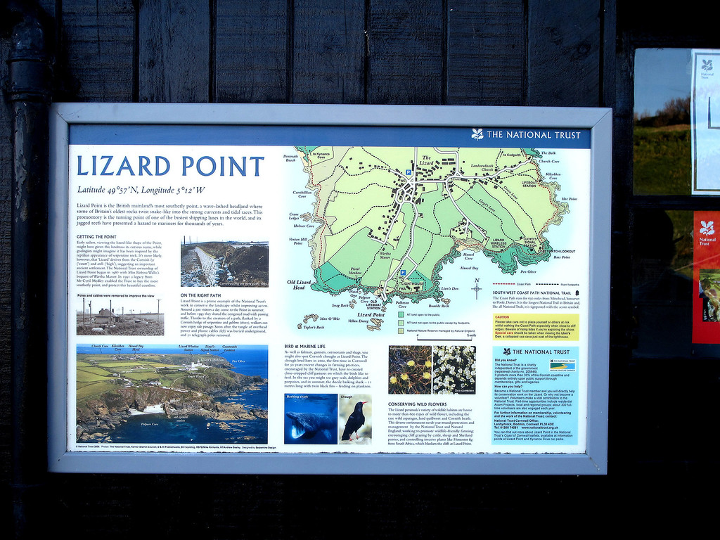 Lizard Point, the most Southerly part of mainland Britain.