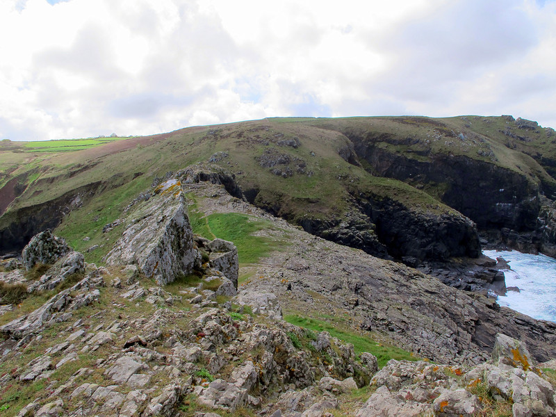 Looking back towards the mainland from the rugged Gurnards Head promontory.