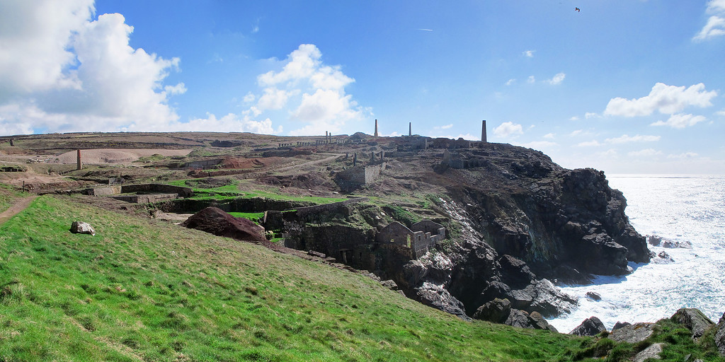 The Levant Tin Mine at Pendeen.   This has long been abandoned, a much more recent mine, Geevor, closer to the village was closed only a few years ago.